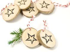Geschenkanhänger aus Holz - Stern - Weihnachten