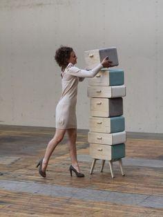 Dutch designer Rianne Koens created the Oturakast cabinet.