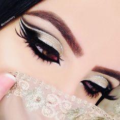30 Best Summer Makeup Trends for 2019 Bridal Eye Makeup, Party Makeup, Wedding Makeup, Simple Eye Makeup, Eye Makeup Tips, Hair Makeup, Makeup Ideas, Arabic Eyes, Arabian Makeup