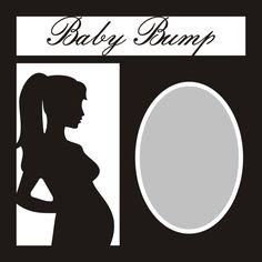 Want2scrap Baby Bump - 12x12 Overlay Scrapbook laser design