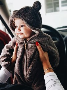 Love this baby bear onesie for cold weather months
