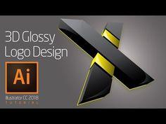 (82) Illustrator 3D Logo Tutorial - YouTube