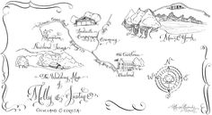 Laura Lavender Calligraphy maps