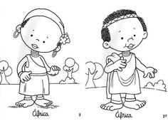 african girl coloring pages Free Coloring Pages, Coloring Sheets, Adult Coloring, Coloring Books, Africa Craft, African American Books, Mickey Mouse, Resurrection Day, African Dolls