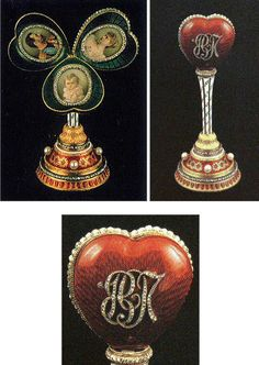 Surprise Mauve Heart Egg with Miniatures:  1897  Owner: The Link of Times Foundation, Russia