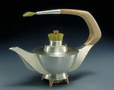 Kristin Mitsu Shiga - Turf Teapot (Raised Sterling silver, maple, hair)