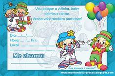 Convites Aniversário Para Imprimir Convites Digitais Simples