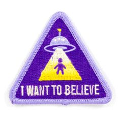 Items similar to Large UFO Earrings - Neon Green - I Want to Believe - Pastel Goth - Grunge - Pastel - Neon - Rave - Alien - Outer Space on Etsy Cool Patches, Pin And Patches, Sew On Patches, Iron On Patches, Iron On Embroidered Patches, Embroidery Patches, Embroidery Thread, Patched Jeans, Patch Design