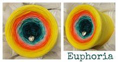 Euphoria: (Mix) Hochbauschacryl 8 Farben: marine petrol eisblau mandarin orange goldgelb kanariengelb gelb