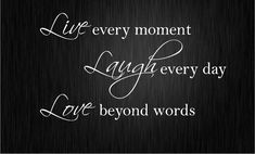 LIVE LAUGH LOVE Wall Quote Sticker Art