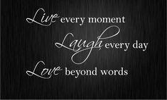 LIVE LAUGH LOVE Wall Quote Sticker Art