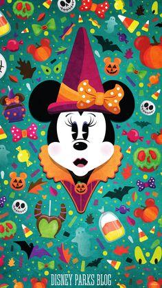 #WonderFALLDisney Halloween Wallpaper - Mobile - Minnie