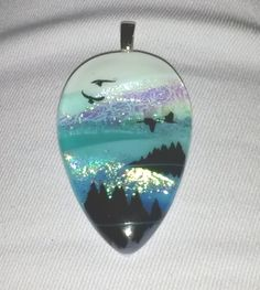 January 24th: Fused glass pendant
