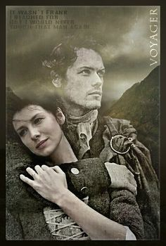 Fan art of Jamie and Claire in Season 3 Voyager