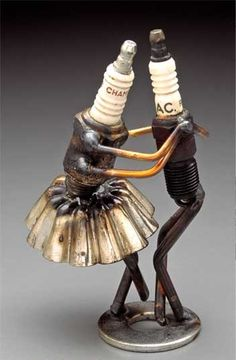 Dick Cooley AKA #Sparkplug Man - #Sculpture #art