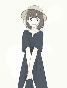 New fashion drawing vintage watercolors Ideas Cartoon Drawings, Cartoon Art, Cute Drawings, Anime Art Girl, Manga Girl, Anime Chibi, Kawaii Anime, Tmblr Girl, Character Art