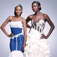 Modern African wedding dress designs by Antherline Couture (South Africa). Picture Source: Nubian Bride