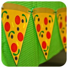 Teenage Mutant Ninja Turtle Pizza Banner; TMNT Party; Ninja Turtle Birthday Party' Print, cut, and shipped to you
