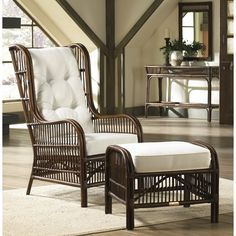 The Panama Jack Bora Bora sunroom occasional chair brings the classic look of rattan poles intricately positioned by hand to draw the natural extension for your inner space. You'll love the casual, re