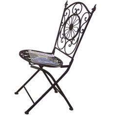 Cadeira Dobrável de Ferro Chama :: Loja Dom Mascate