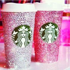 #starbucks #coffee #bling #rhinestones #pink #girly #ice #java #silver #pretty #obsessedwithpink #lovepink #glitter by mimicoconuts_