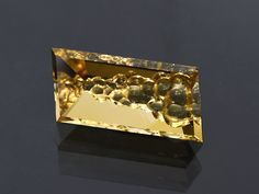 Natural Citrine Gemstone from Bolivia, 24.96 carats.  Hand carved and Faceted by Brett Kosnar of Kosnar Gem Co.