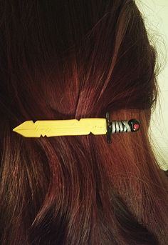 Adventure Time Finn's Golden Sword Hair by StarsAndSwords on Etsy, $14.95