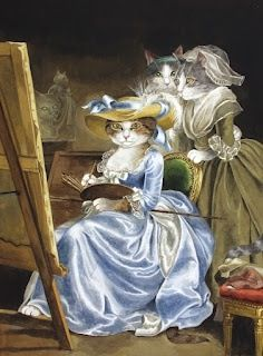 Artwork by Susan Herbert. #cats #art #cute  #painting #artist