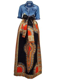 Huiyuzhi Womens African Print Skirts Long Maxi Skirt Dashiki Ball Gown 3XL, M, | Clothing, Shoes & Accessories, Women's Clothing, Skirts | eBay!