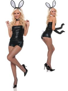 playboy bunny costume womens sexy sequin bunny costume - Halloween Costumes Playboy