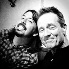 Dave Grohl and John Paul Jones