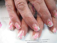 Gel nails, glitter tips,