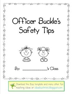 Printables Officer Buckle And Gloria Worksheets 1000 images about officer buckle gloria on pinterest an activity where students get to make a page for class book showing safety tips