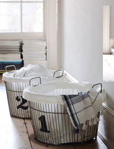 Wire Laundry Storage #LaundryByDesign #TheGoodHomeCo #Line Dry