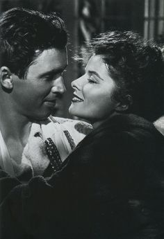 "James Stewart and Katherine Hepburn in ""The Philadelphia Story"" (1940)"