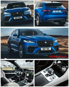 2021 Jaguar F-Pace SVR - Velocity Blue - Dailyrevs New Jaguar, Jaguar Xe, Jaguar Cars, Land Rover Models, Jaguar Daimler, Lamborghini Miura, Sport Seats, S Car, Amazing Cars