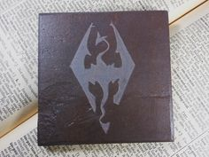 Custom ART TILE - Personalized with Your Choice of Existing Design - Hand Carved Natural Slate Stone, Art Coaster, Custom Personalized Gift Coaster Design, Video Game Art, Tile Art, Coasters, Moose Art, Carving, Gallery, Unique Jewelry, Handmade Gifts