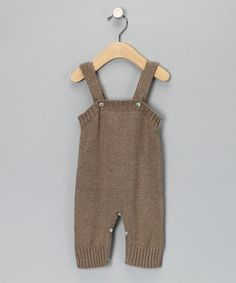 brown knit overalls