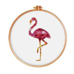 A wonderful gift for my friend, such a gorgeous flamingo cross stitch pattern