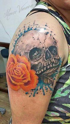 Tatto skullrose