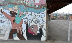 old and new murals on calle 16 in downtown phoenix (by rose johnson, gennaro garcia, and DOSE)