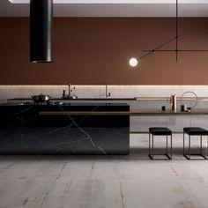 SUPREME EVO: large format porcelain stoneware collection marble effect Luxury Kitchen Design, Kitchen Room Design, Interior Design Kitchen, Cuisines Design, Beautiful Kitchens, Kitchen Living, Kitchen Furniture, Interior Inspiration, House Design