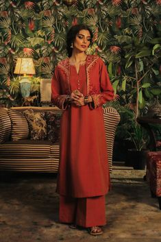 EMBROIDERED SUIT (E0158/103/204) | ETHNIC