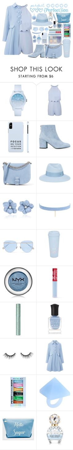 """{perfect}ion"" by alyson7123 ❤ liked on Polyvore featuring Lacoste, Miss Selfridge, Stuart Weitzman, Little Liffner, Maison Michel, Jules Smith, Sunday Somewhere, ban.do, NYX and Lime Crime"