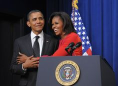 Barack & Michelle Obama, Nov 21 2011