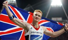 Greg Rutherford celebrates his gold medal for Great Britain in the long jump at the Olympics. Photograph: Paul Mcfegan/Sportsphoto Ltd/Allstar