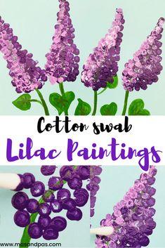 Cotton Swab Flower Painting | Fun Kids Crafts | Mas & Pas