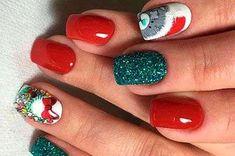 Маникюр на Новый Год 🎄 2019 Nails, Beauty, Design, Finger Nails, Ongles, Beauty Illustration, Nail, Nail Manicure