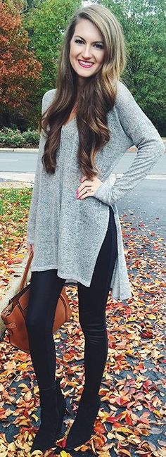 Lush button-up top + faux leather leggings