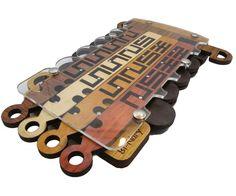 BI-Nary - Wooden Maze Brain Teaser Puzzle
